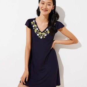 EMBROIDERED FLUTTER SWING DRESS NWT